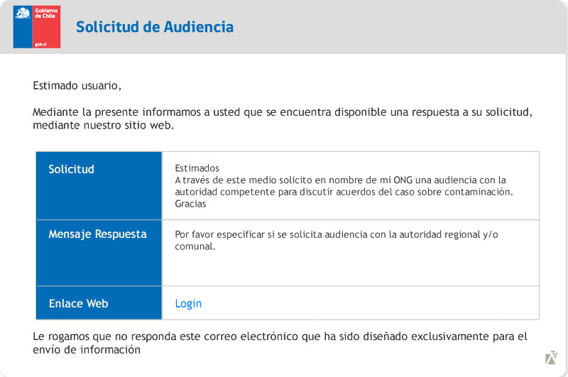 Notificaciones informativas