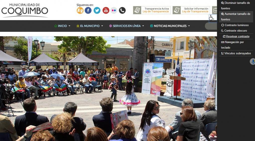 [Normas de desarrollo digital]: Nuevo portal municipal de Coquimbo cumple con todas las exigencias requeridas por el Estado