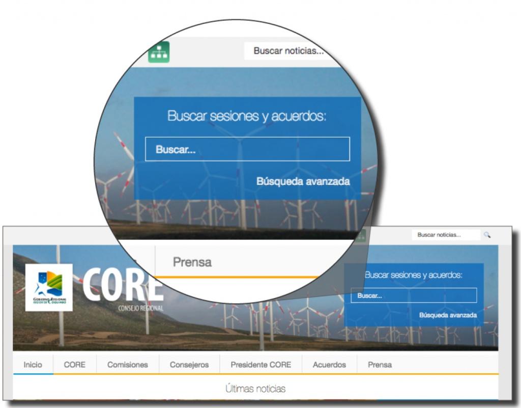 Fácil acceso vía portal web del CORE
