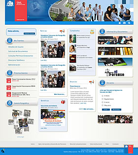 Intranet sitio web SML